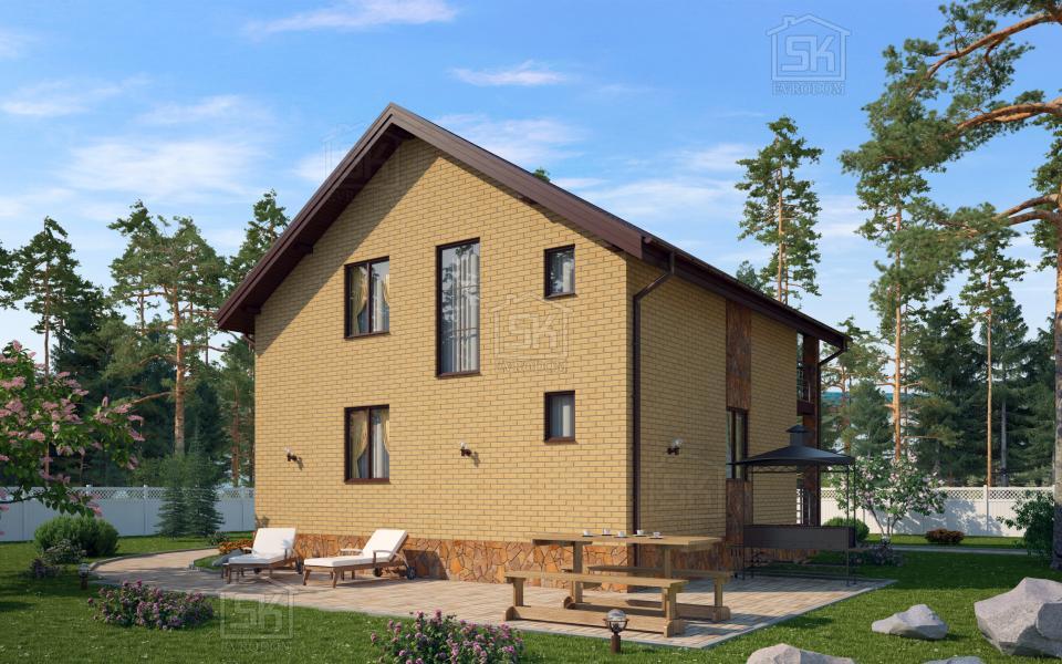 Каркасный дом из СИП панелей по проекту Касимово