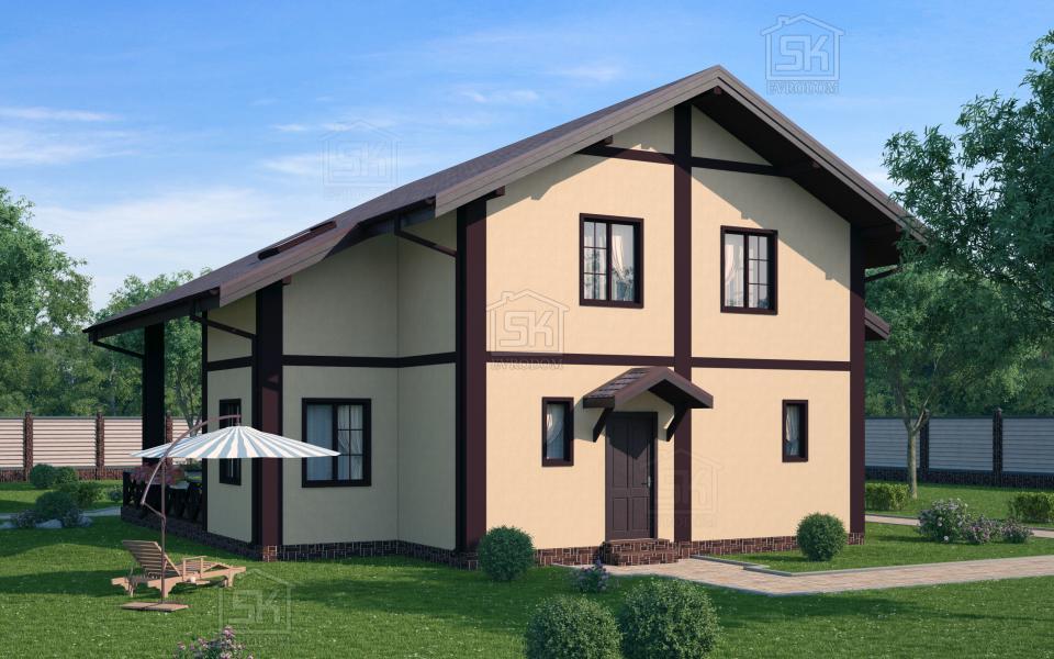 Дом из СИП панелей по проекту Эдельвейс