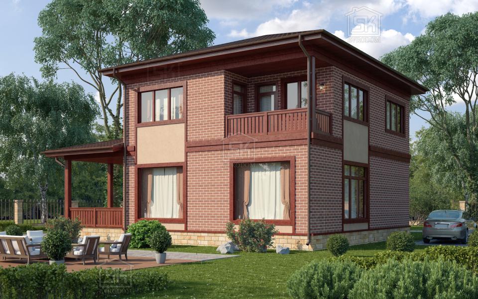 Дом из СИП панелей по проекту Череповец