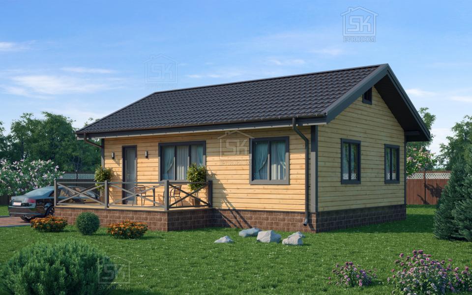 Дом из СИП панелей по проекту Выборг
