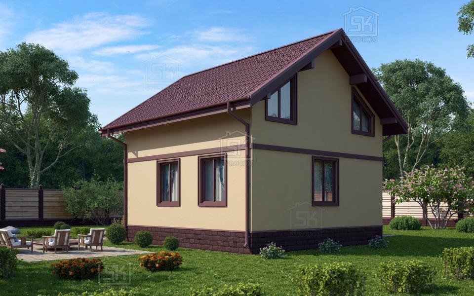 Дом из СИП панелей по проекту Клио