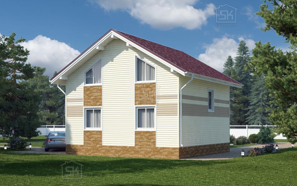 Дом из СИП панелей по проекту Николь
