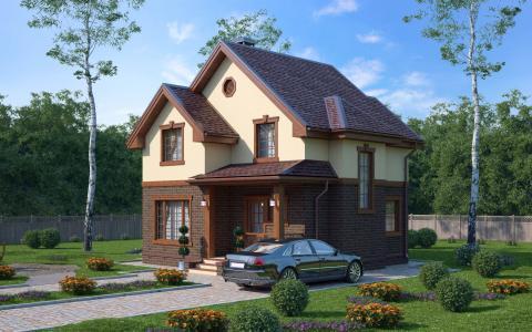 Дом из СИП панелей по проекту Демо