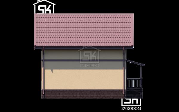 Дом из СИП панелей по проекту Клио - фасад