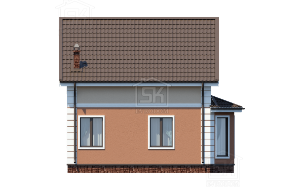 Дом из СИП панелей по проекту Мерлин - фасад