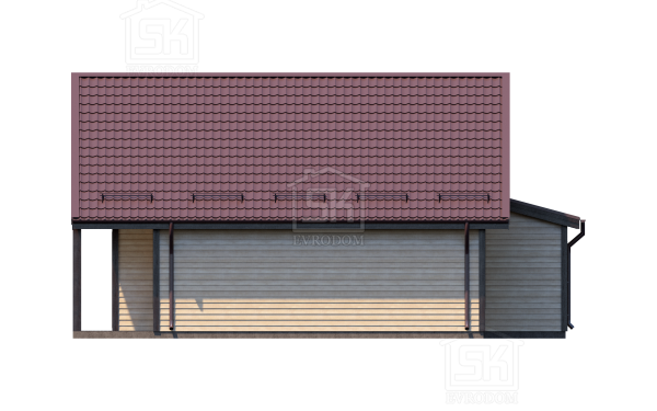 Дом из СИП панелей по проекту Победитель - фасад