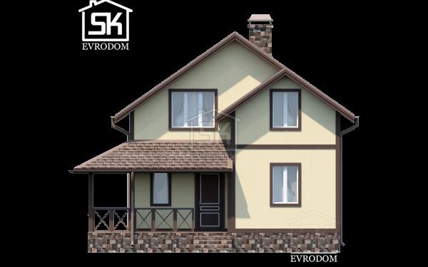 Дом из СИП панелей по проекту Волхов - фасад