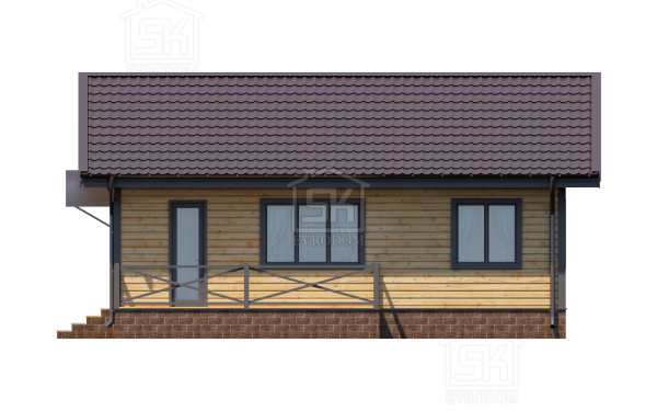 Дом из СИП панелей по проекту Выборг - фасад