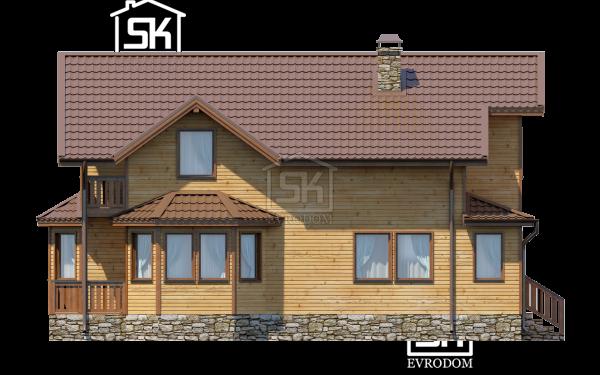 Дом из СИП панелей по проекту Ропша