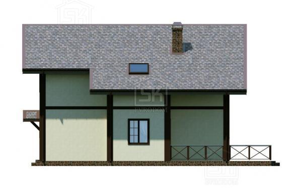 Дом из СИП панелей по проекту Эдельвейс - фасад