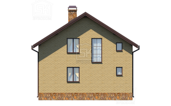 Дом из СИП панелей по проекту Касимово - фасад