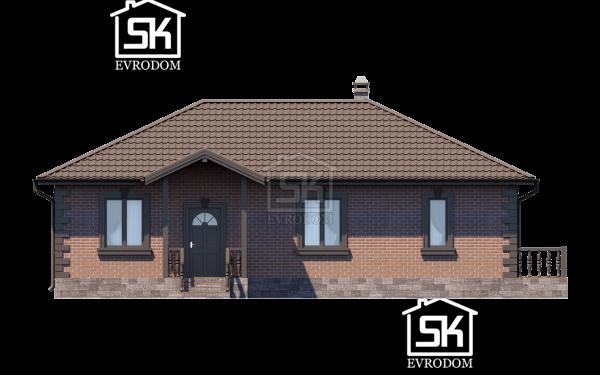 Дом из СИП панелей по проекту Братск - фасад