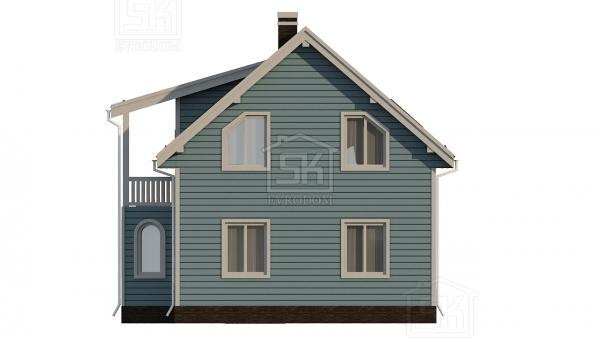 Дом из СИП панелей по проекту Санино - фасады