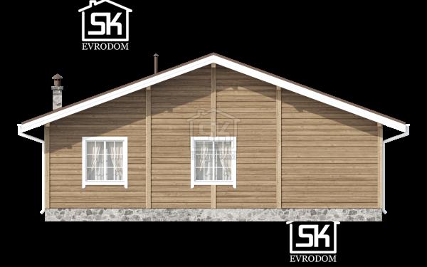Проект дома из СИП панелей Керро - фасад