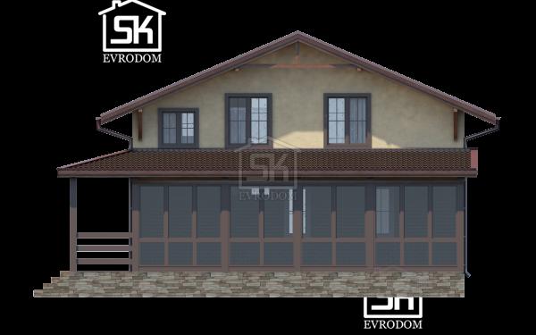 Дом из СИП панелей по проекту Озерки - фасад