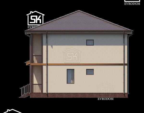 Дом из СИП панелей по проекту Вайя - фасады