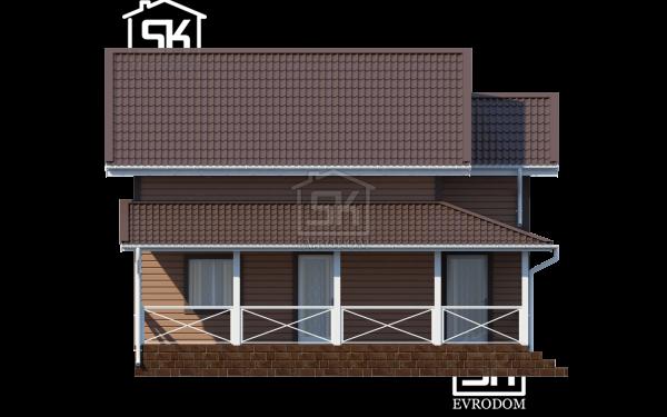 Дом из СИП панелей по проекту Кискелево - фасад