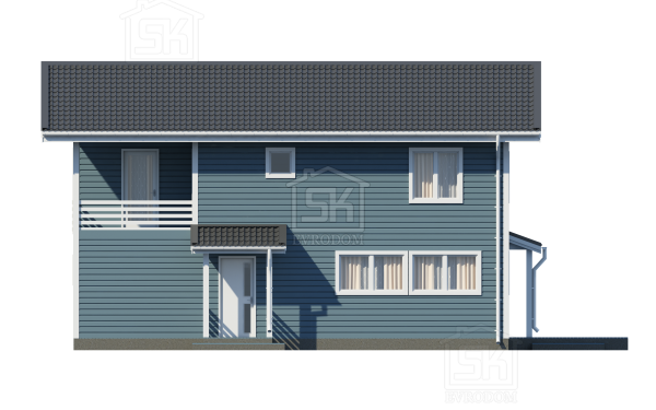 Дом из СИП панелей по проекту Таллин - фасад