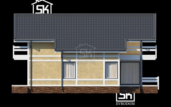 Дом из СИП панелей по проекту Барон - фасад