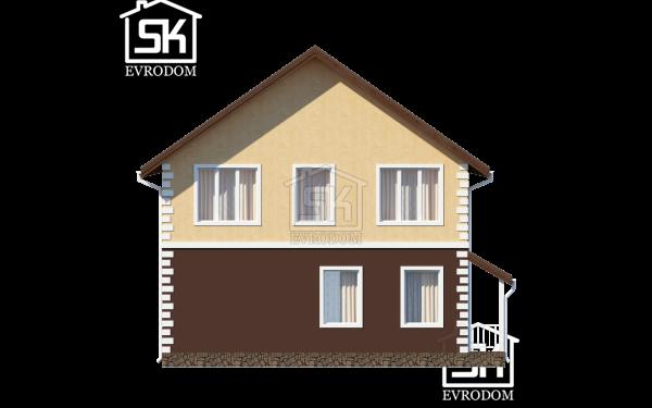 Дом из СИП панелей по проекту Вилючинск - фасад