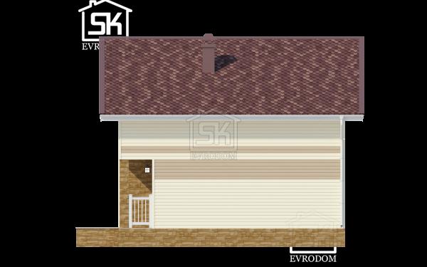 Дом из СИП панелей по проекту Николь - фасад