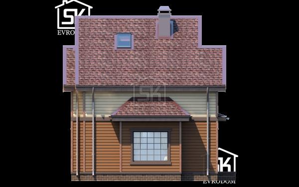 Дом из СИП панелей по проекту Демо 2 - фасад