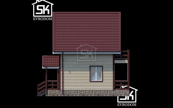 Дом из СИП панелей по проекту Залив - фасад
