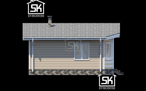 Проект дома из СИП панелей Эллин - фасад