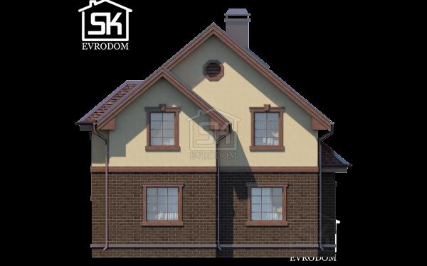 Дом из СИП панелей по проекту Демо - фасад