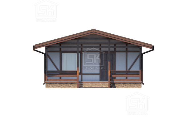 Дом из СИП панелей по проекту Хиттолово - фасад