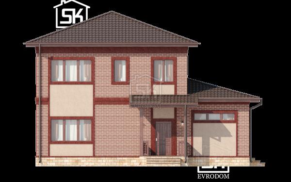 Дом из СИП панелей по проекту Череповец - фасады