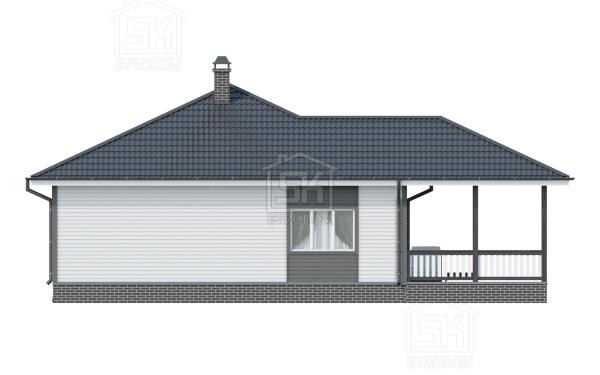 Проект дома из СИП панелей Лебяжье - фасады