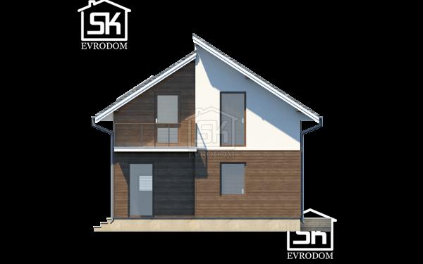 Проект дома из СИП панелей Комфорт - фасад