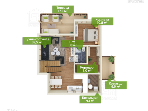 Донцо план первого этажа