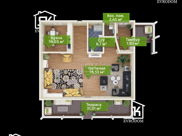 Поляны план первого этажа