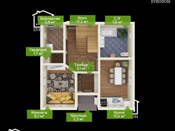 Коммунар план первого этажа