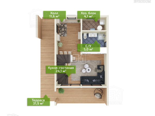 Южный Парк план первого этажа