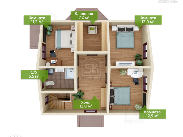 Антропишно план второго этажа