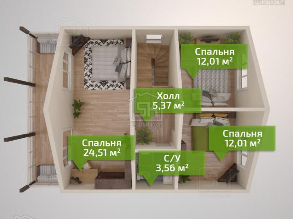 Борисово - план второго этажа