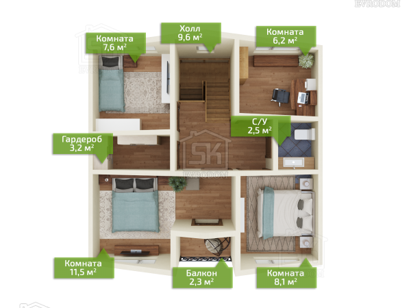 Коммунар план второго этажа