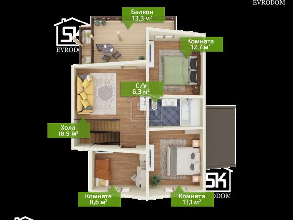 Донцо план второго этажа